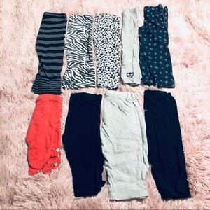 Lot of 9 Leggings and Capris